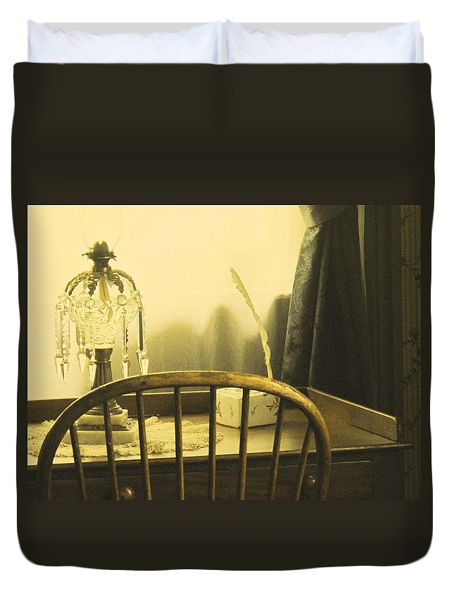 Pioneer Duvet Cover featuring the photograph I Sat Down To Write by Ian MacDonald