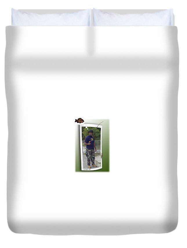 2d Duvet Cover featuring the photograph I Thought It Was Bigger by Brian Wallace