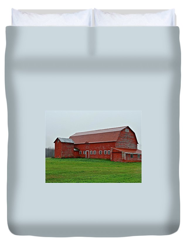 Barn Duvet Cover featuring the photograph I Want One by Diana Hatcher