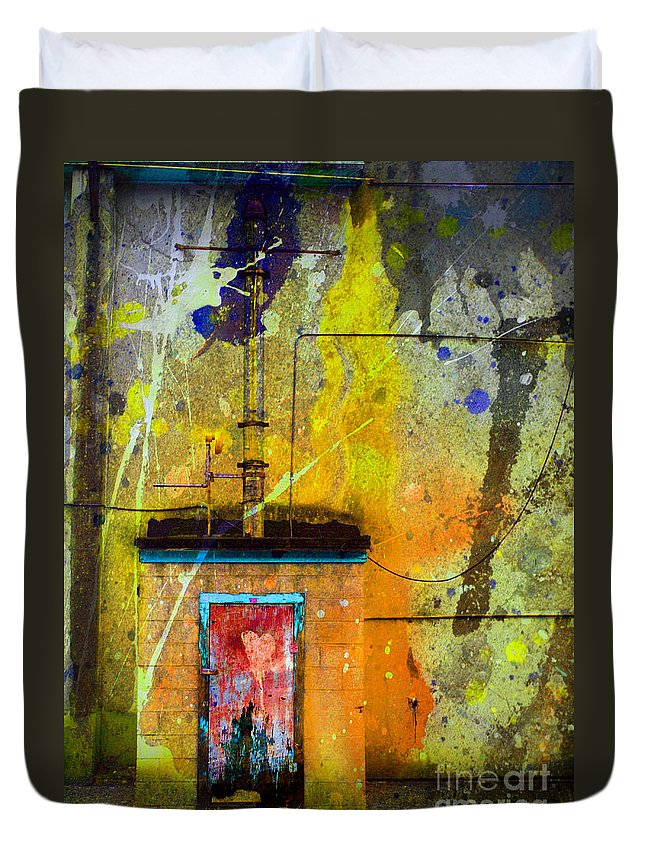 Door Duvet Cover featuring the photograph I Wear My Heart On The The Door by Tara Turner