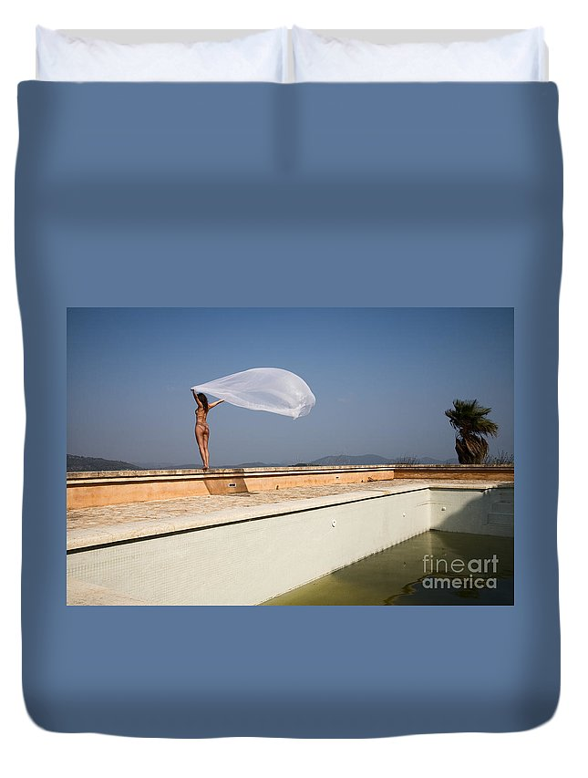 Sensual Duvet Cover featuring the photograph I Will Fly To You by Olivier De Rycke