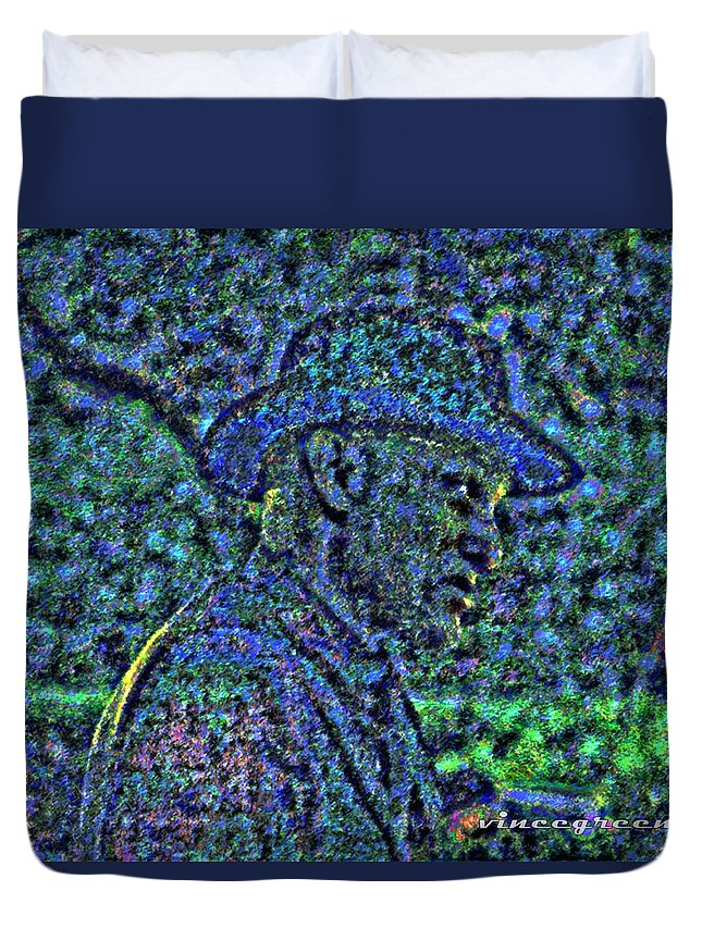 Man Duvet Cover featuring the digital art I Will Help You by Vincent Green