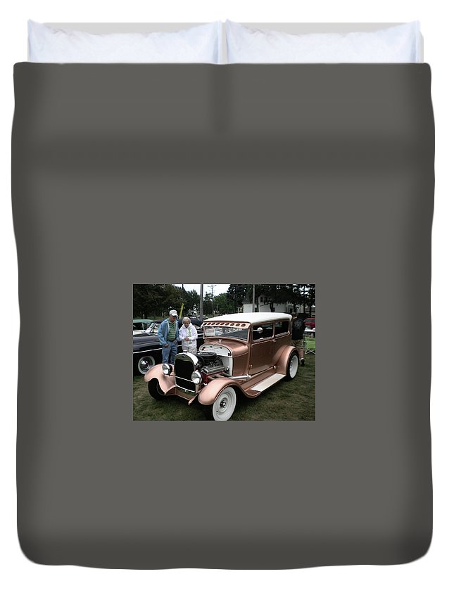 Car Duvet Cover featuring the photograph I Wish Your Engine Ran As Good As His by Red Cross