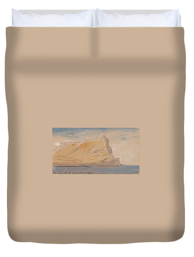 English Art Duvet Cover featuring the drawing Ibreem by Edward Lear