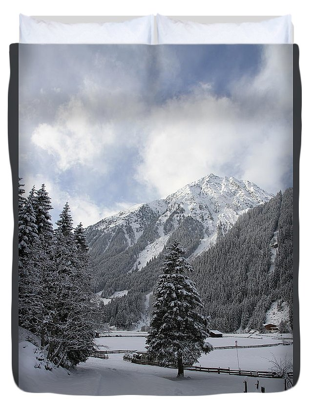 Snow Duvet Cover featuring the photograph Ice Cold But Beautiul by Christiane Schulze Art And Photography