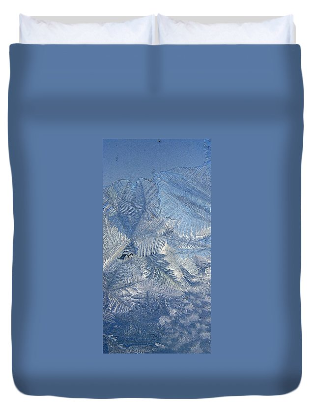 Ice Duvet Cover featuring the photograph Ice Crystals by Rhonda Barrett