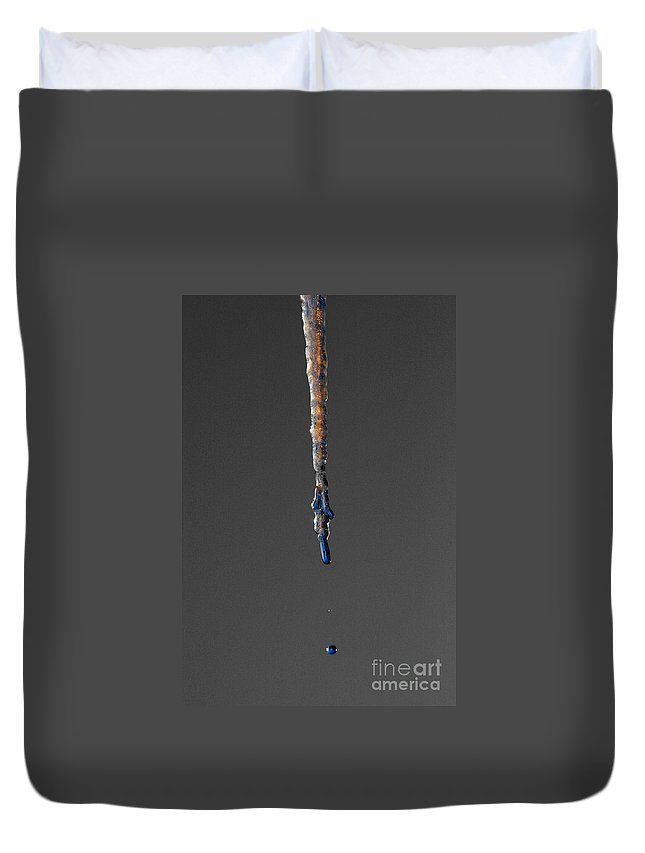Ice Duvet Cover featuring the photograph Ice Drip by Rick Monyahan
