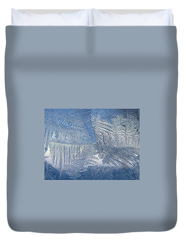 Ice Duvet Cover featuring the photograph Ice Galore by Rhonda Barrett