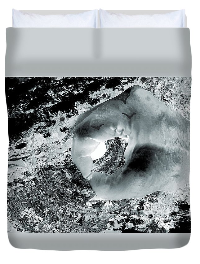 Ice Duvet Cover featuring the photograph Ice, Moonlight, Magic by Abstract Angel Artist Stephen K