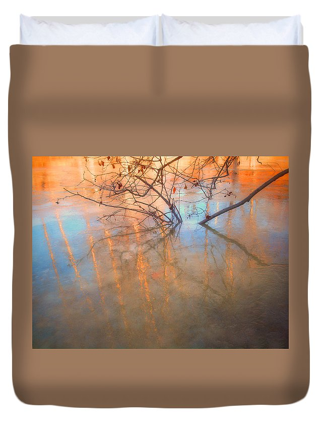 Ice Duvet Cover featuring the photograph Ice Reflections 2 by Tara Turner