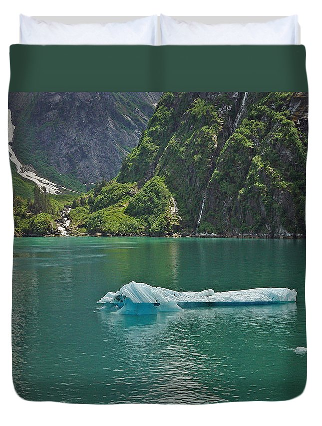 Iceburg Duvet Cover featuring the photograph Ice Tracy Arm Alaska by Heather Coen
