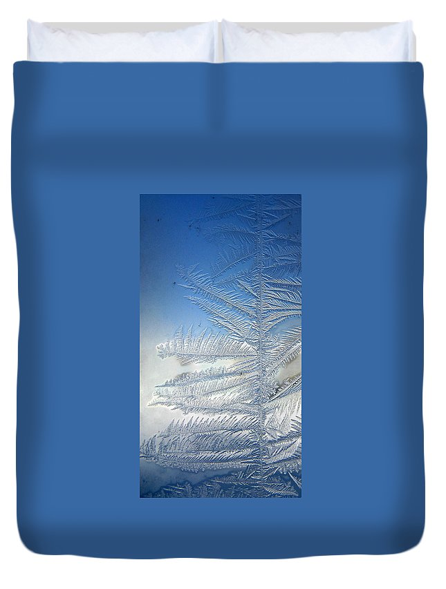 Ice Duvet Cover featuring the photograph Ice Tree by Rhonda Barrett