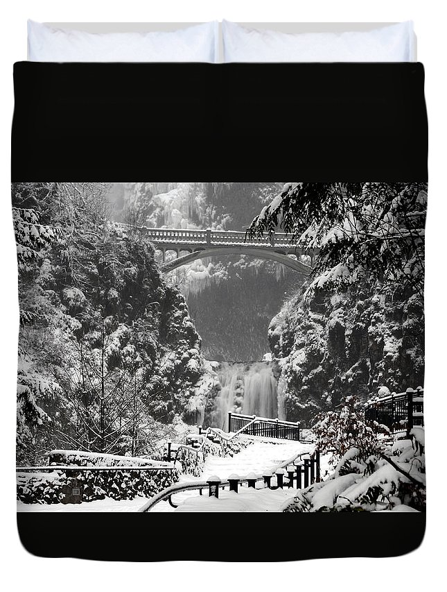 Ice Water Duvet Cover featuring the photograph Ice Water by Wes and Dotty Weber