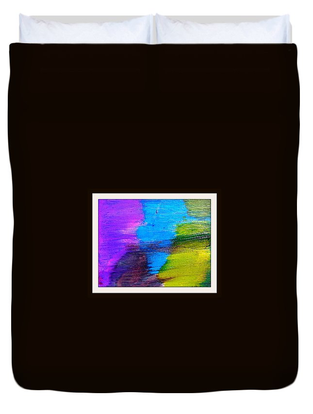 Cosmos Duvet Cover featuring the painting Iceberg Abstract by LaShonda Davis