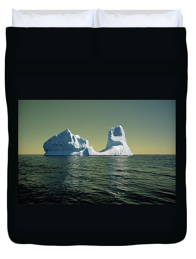 00342146 Duvet Cover featuring the photograph Iceberg in the Labrador Sea by Yva Momatiuk John Eastcott