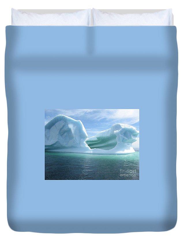 Photograph Iceberg Ocean Summer Newfoundland Duvet Cover featuring the photograph Iceberg by Seon-Jeong Kim