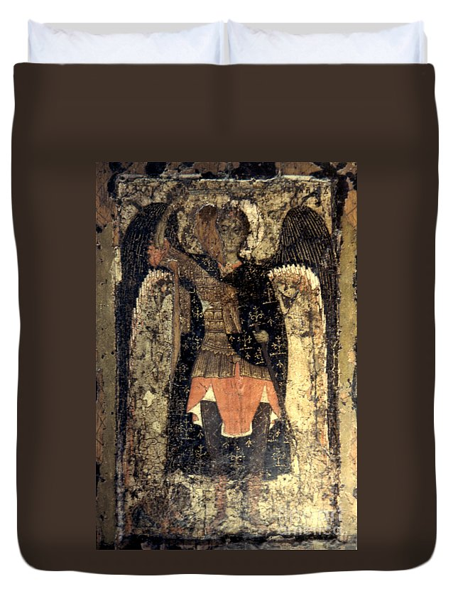 13th Century Duvet Cover featuring the photograph Icon: Assumption Cathedral by Granger