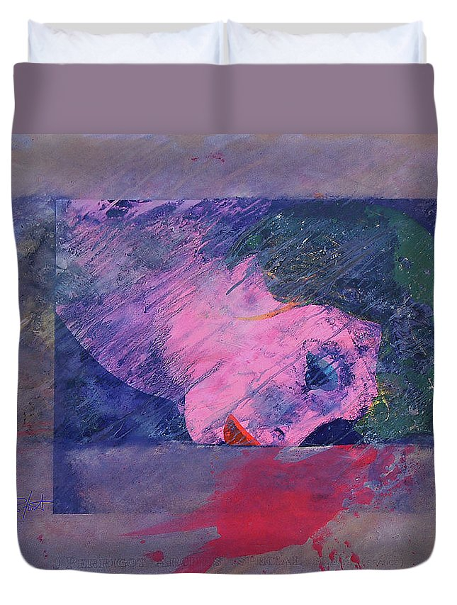 Psycho Duvet Cover featuring the painting Iconoclasm 2 by Charles Stuart