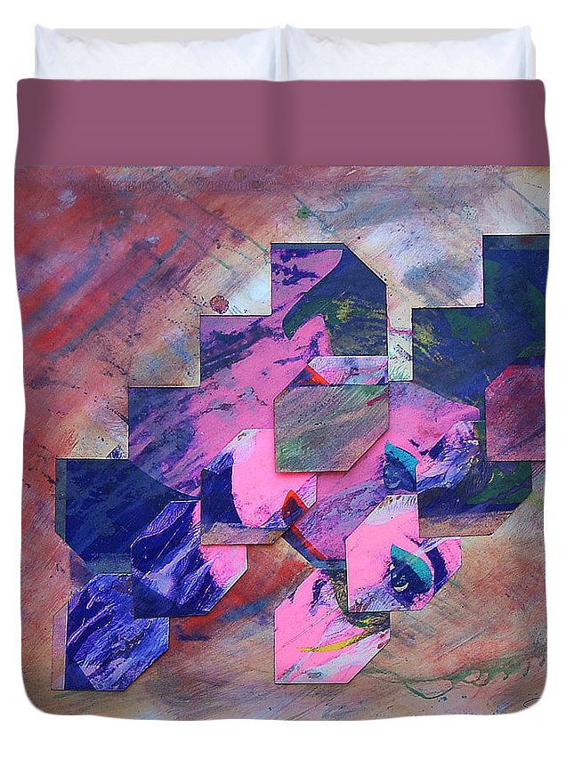 Psycho Duvet Cover featuring the painting Iconoclasm 3 by Charles Stuart