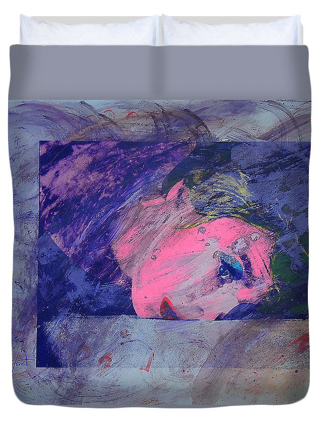Psycho Duvet Cover featuring the painting Iconoclasm by Charles Stuart