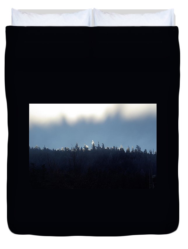 Ice Duvet Cover featuring the photograph Icy Sunrise by Cindy Johnston