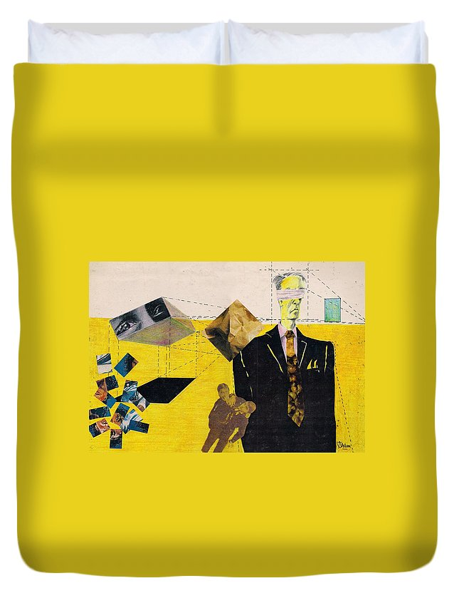 Idol Icon Conflict Lies Vicious Duvet Cover featuring the mixed media Idolatry by Veronica Jackson
