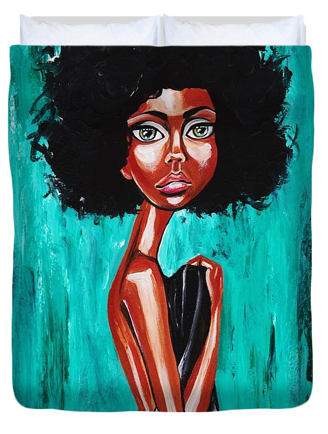 Afro Duvet Cover featuring the photograph If From Past Sins Ive Been Washed Clean-why Do I Feel So Dirty by Artist RiA