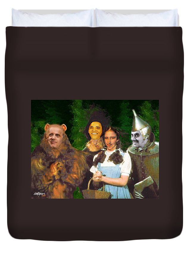 If I Only Had A Brain Duvet Cover featuring the digital art If I Only Had a Brain by Seth Weaver