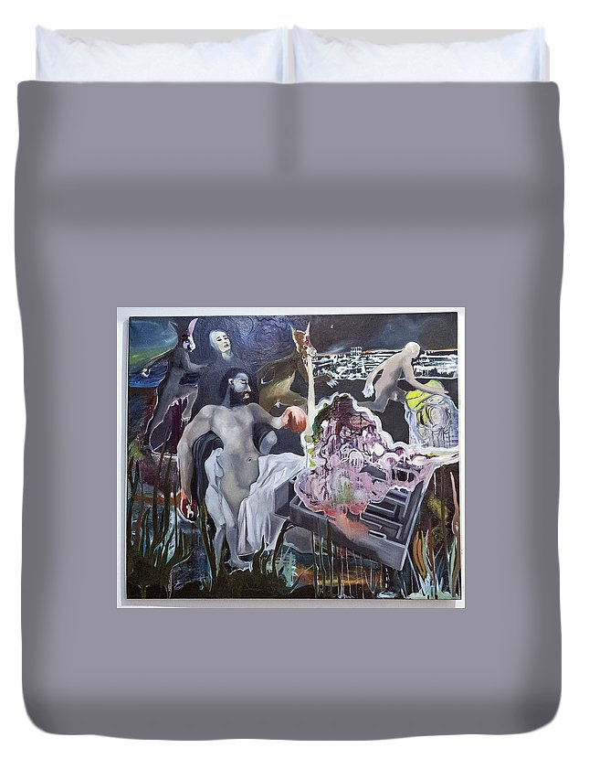 Duvet Cover featuring the painting If Only They Knew by Filip Matic