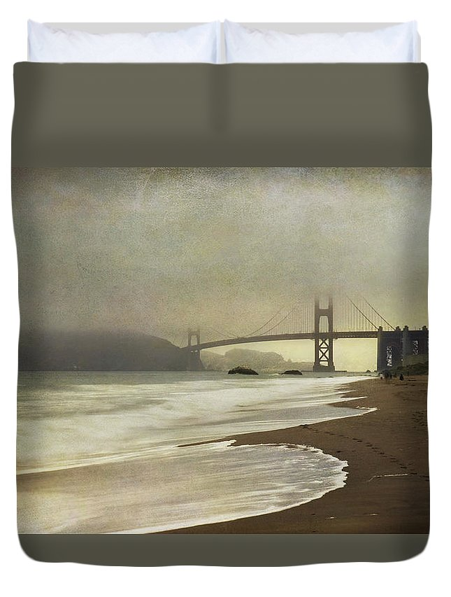 San Francisco Duvet Cover featuring the photograph If You Could Just Stay by Laurie Search
