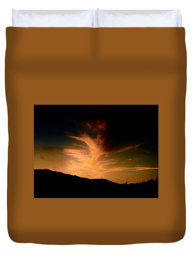 Duvet Cover featuring the photograph Ignite The Phoenix by Joy Elizabeth
