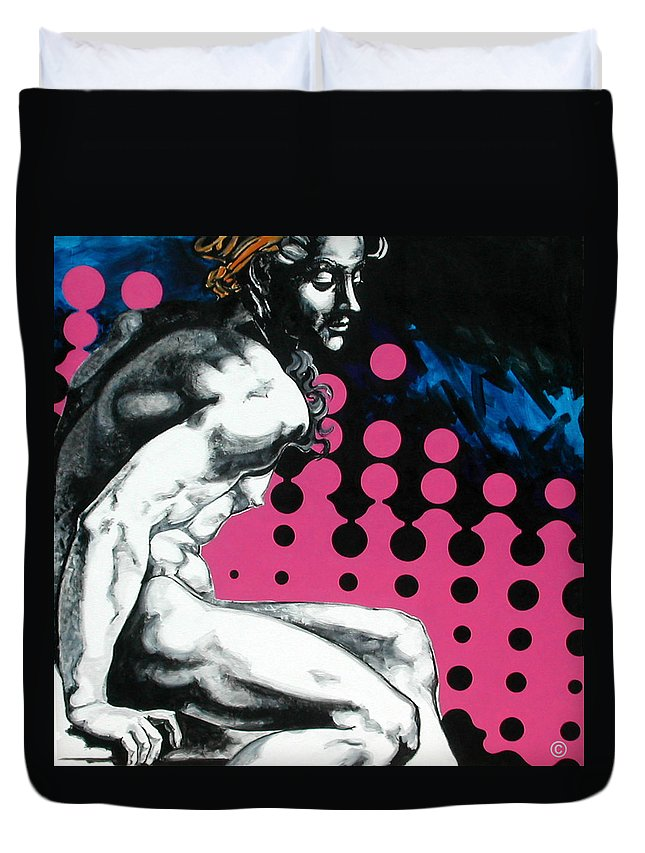 Pop Duvet Cover featuring the painting Ignudo by Jean Pierre Rousselet