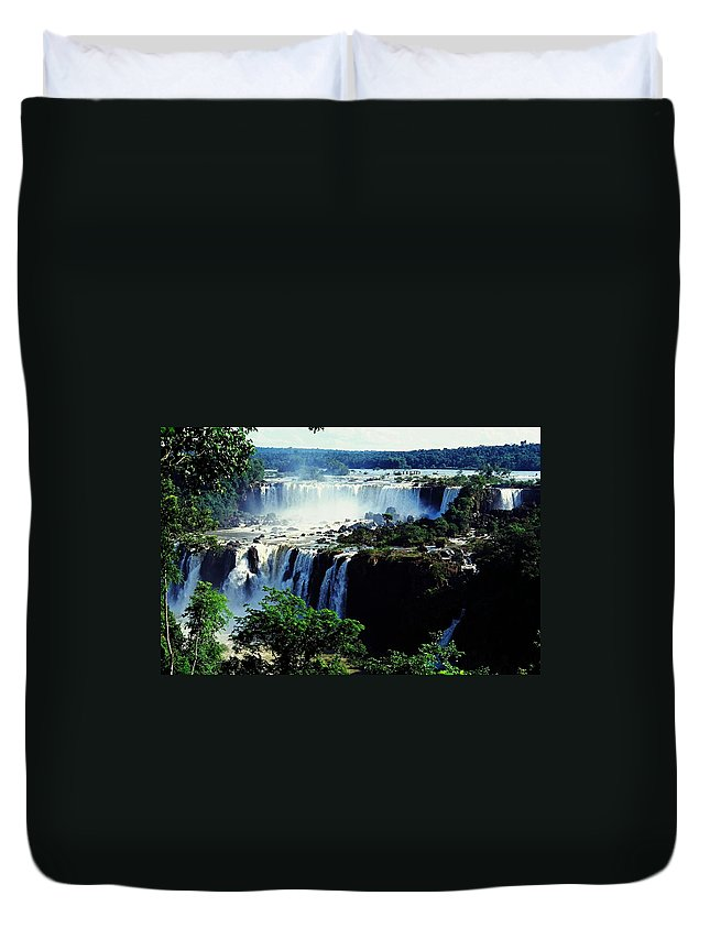 South America Duvet Cover featuring the photograph Iguacu Waterfalls by Juergen Weiss