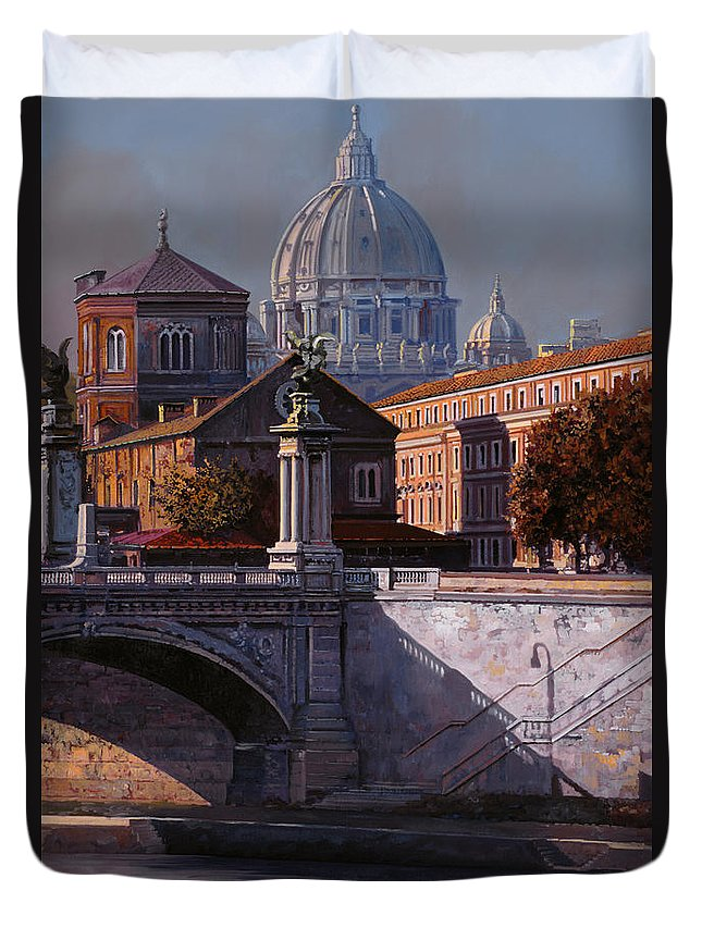 Rome Duvet Cover featuring the painting Il Cupolone by Guido Borelli