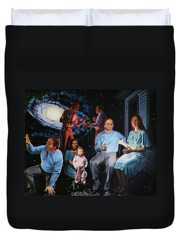 Surreal Duvet Cover featuring the painting Illumination Beyond Ursa Major by Dave Martsolf