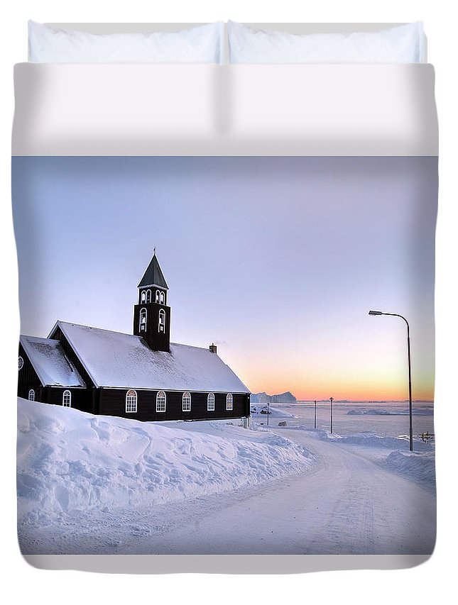 Zion Church Duvet Cover featuring the photograph Ilulissat - Greenland by Joana Kruse