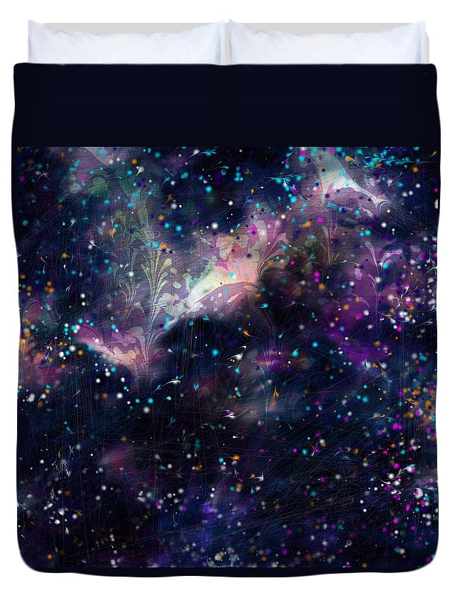 Abstract Duvet Cover featuring the digital art I'm In Heaven by Rachel Christine Nowicki