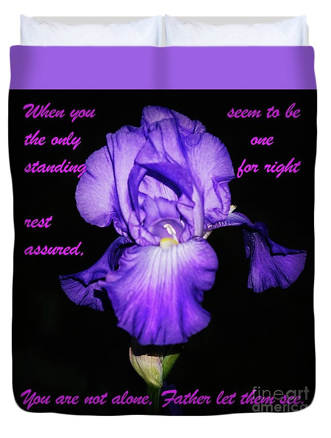 Flowers Duvet Cover featuring the photograph I'm Not Alone by Merle Grenz