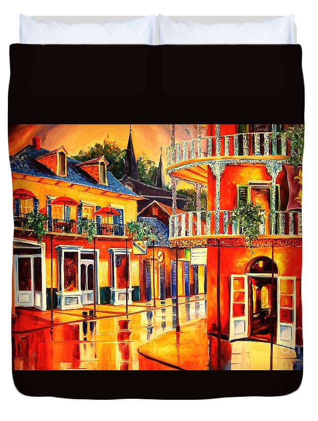 New Orleans Duvet Cover featuring the painting Images Of The French Quarter by Diane Millsap