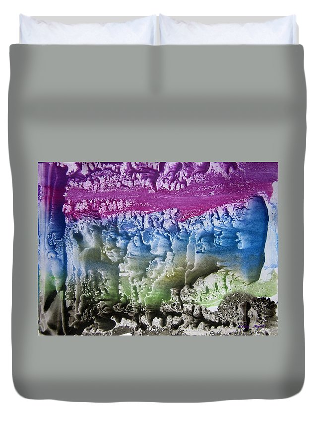 Imagination Duvet Cover featuring the painting Imagination 8 by Vesna Martinjak