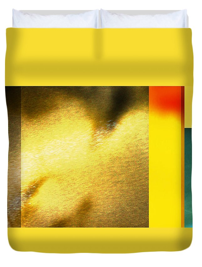 Yellow Duvet Cover featuring the digital art Imagination by Are Lund