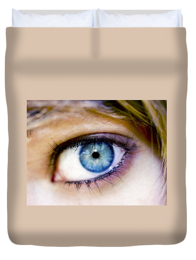 Eye Duvet Cover featuring the photograph Imagine by Kelly Jade King