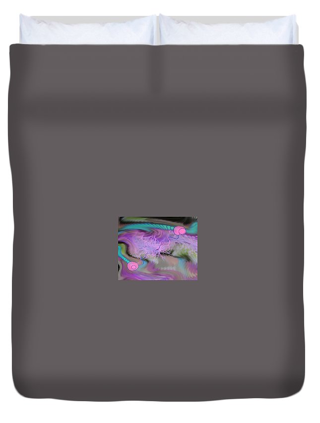 Digital Art Duvet Cover featuring the digital art Img 0021 by Ralph Root