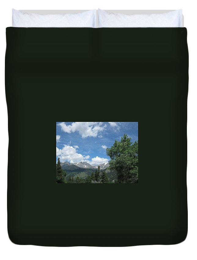 Mountains Duvet Cover featuring the photograph Img_0203 by Maxine Bomareto