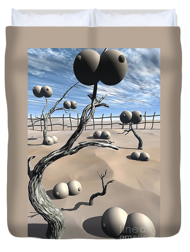 Humor Duvet Cover featuring the digital art Imm Plants by Richard Rizzo