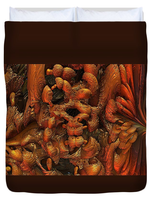 Art Duvet Cover featuring the digital art Immolaturo by Jeff Iverson