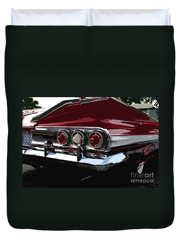 Impala Duvet Cover featuring the painting Impala by David Lee Thompson