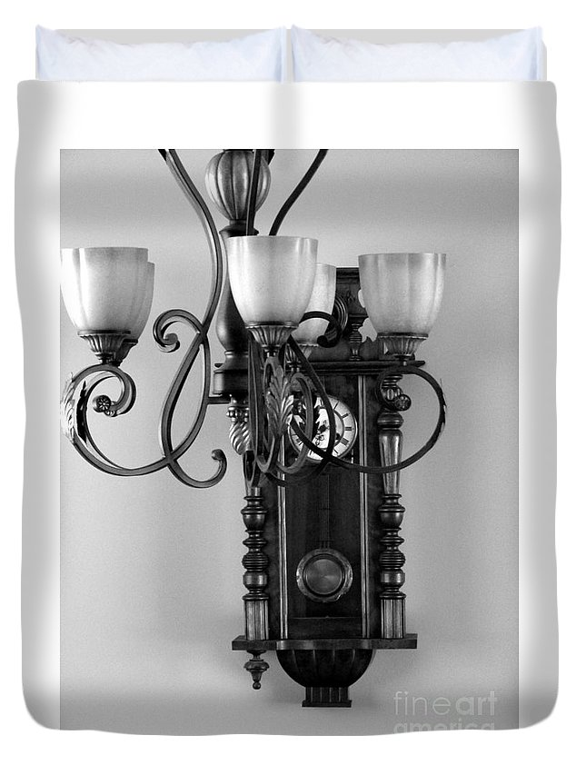Black And White Duvet Cover featuring the photograph Imperfections Add Character by Abstract Angel Artist Stephen K