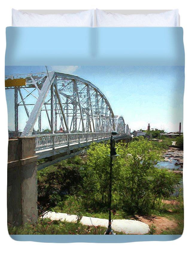 Llano Duvet Cover featuring the photograph Impressionistic Llano Bridge by JG Thompson