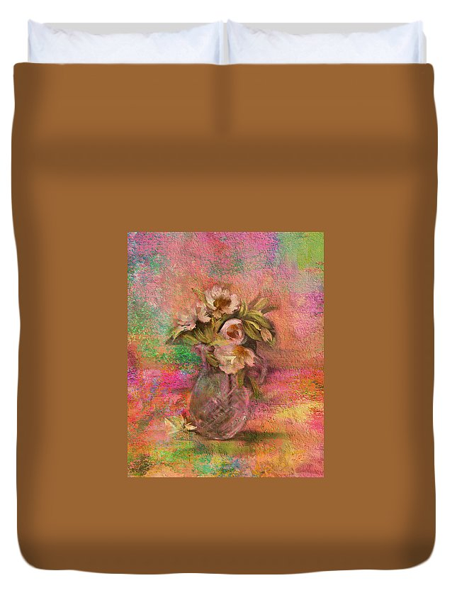 Impressionism Duvet Cover featuring the photograph Impressionistic Still Life by Carla Parris